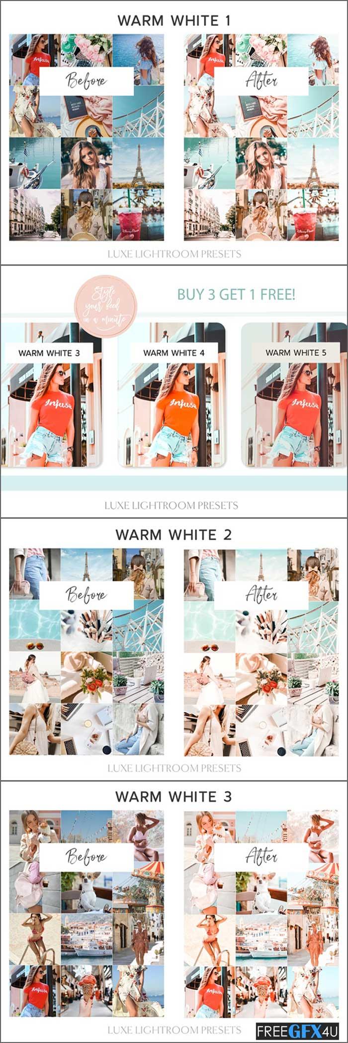 7 Warm White Lightroom Mobile Preset