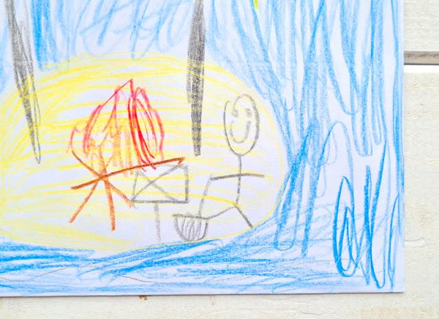 DIY: Umschlag für einen Gutschein gestalten (eine einfache Idee). Die Kinder müssen keine Künstler sein; die Beschenkten freuen sich auf jeden Fall!