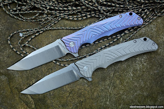 Y-Start 5012 titanium frame-lock flippers with VG10 blade