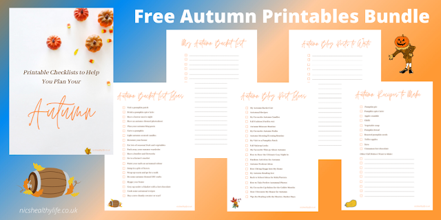 preview of autumn printables bundle