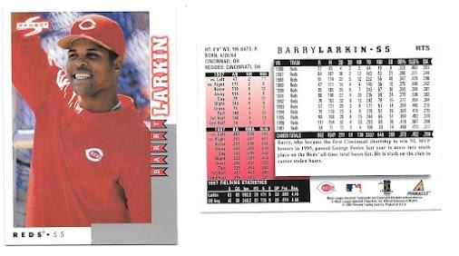 Barry Larkin Collection 490: 1998 Score Rookie/Traded - #RT5 Barry Larkin Year:  1998 Brand:  Score...