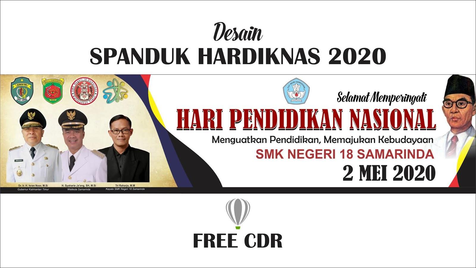 Desain Spanduk HARDIKNAS 2020 Format CorelDraw ( Free CDR