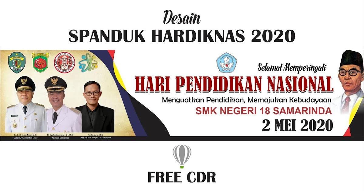 Desain Spanduk HARDIKNAS 2020 Format CorelDraw ( Free CDR ...
