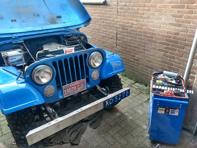 Jeep CJ 5 Ford Pinto engine timing belt change