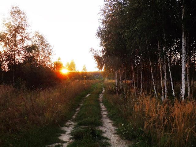 Zachód słońca w Rosji.