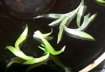 大根の葉の飾り