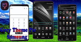 Download Black & White Theme for samsung Pie | Custom Oneui Theme Installer no Root