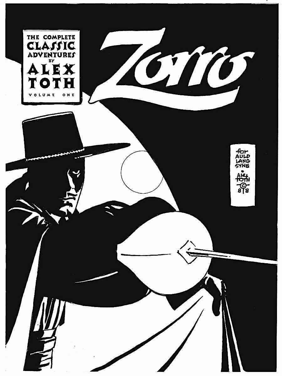 Alex Toth story art for Zorro