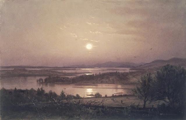 Dipinto romantico di William Trost Richards, Lago Winnipesaukee