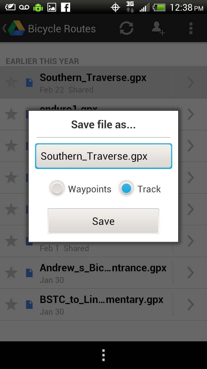 Virginia Endurance Series: GPX Track Files: How-To navigate