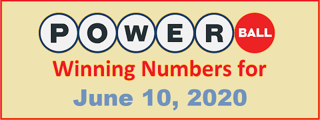 PowerBall Winning Numbers for Wednesday, June 10, 2020