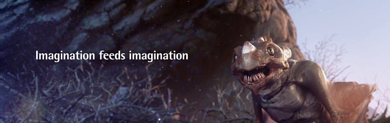 Animation : Monster frisst Monster frisst ... Imagination feeds Imagination ( 1Video )