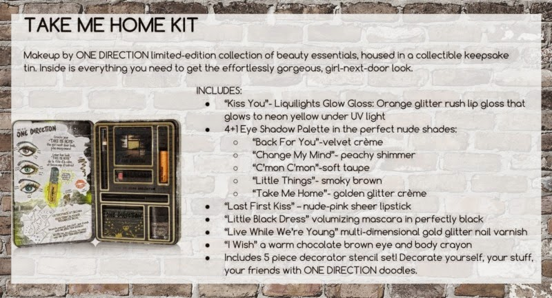 A Sneak Peek Into One Directions New Makeup Line; Take Me Home Kit, By Barbie's Beauty Bits