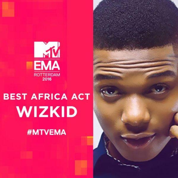 Wizkid Wins MTV EMAs 2016