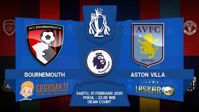 Prediksi Pertandingan Bournemouth vs Aston Villa 01 Februari 2020