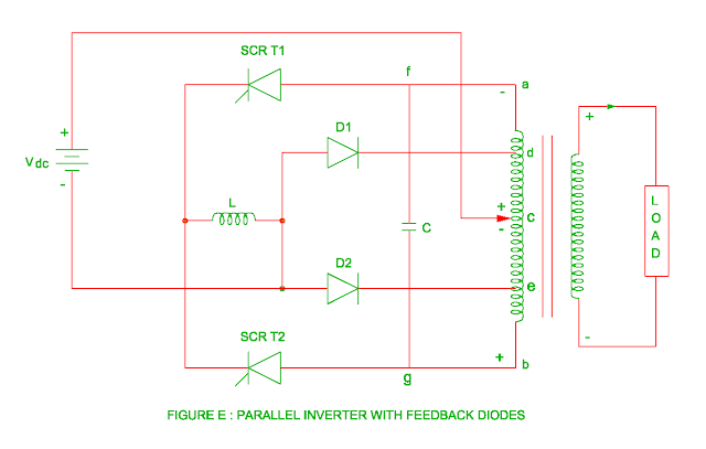 parallel inverter with feedback diodes