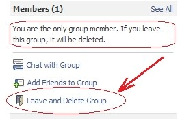 how to delete a group on facebook you made
