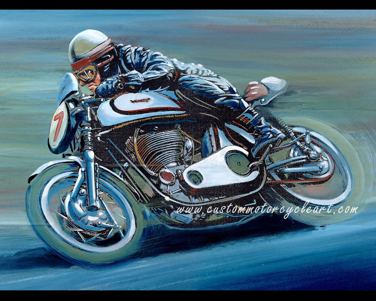 motorcycle classic print norton experimental vanzet gaston