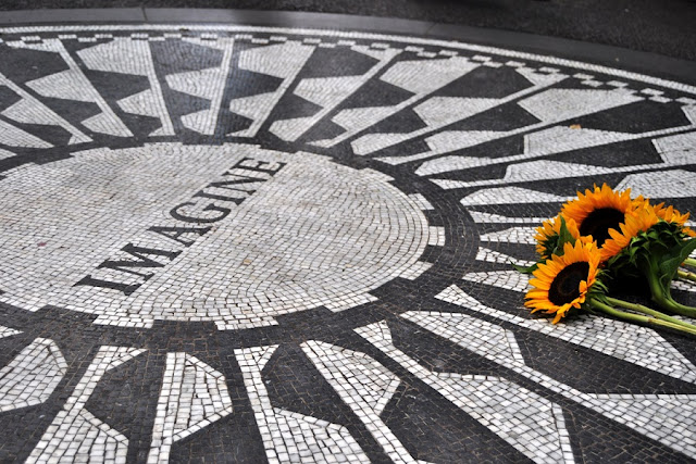 Strawberry Fields no Central Park em Nova York