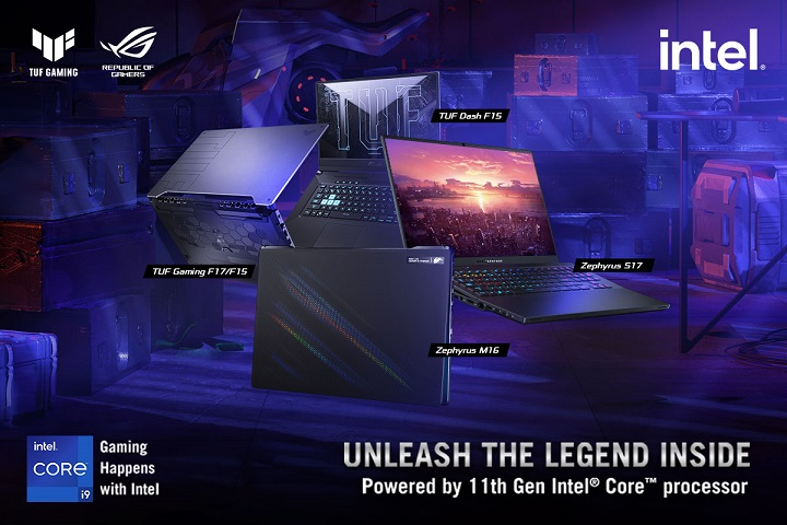 ROG announces new Zephyrus and TUF Gaming Lines with Intel 11th Gen CPUs