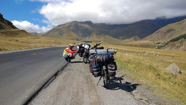 военно-грузинская дорога на велосипедах