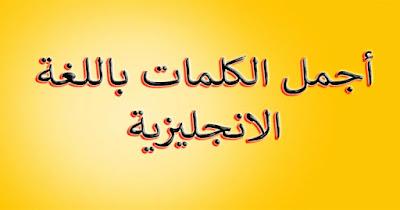 أجمل الكلمات باللغة الانجليزية مع الجمل المناسبة رووعــة ❤️