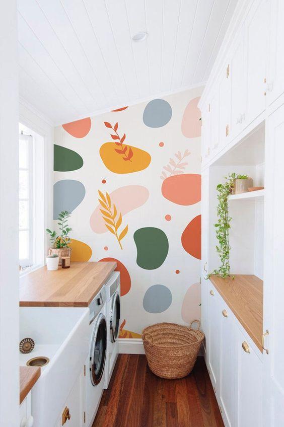 pintura orgânica lavanderia