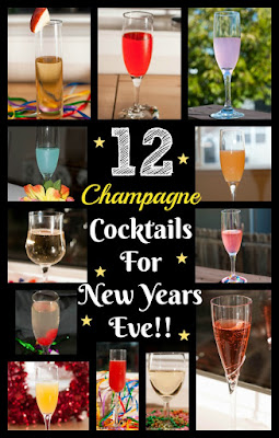 new years eve, new years day, new years cocktails, champagne cocktails