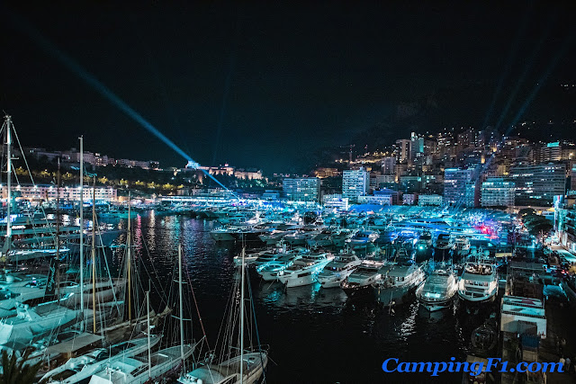 Monaco Marina at night