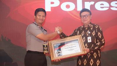 Penghargaan  Pelayanan  Publik  KATEGORI SANGAT BAIK Tahun 2019,  Kembali Diraih Polres Solok Kota
