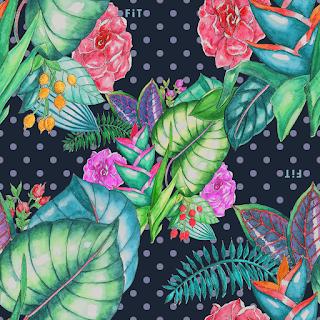 Midnight Garden Repeat Textile Design