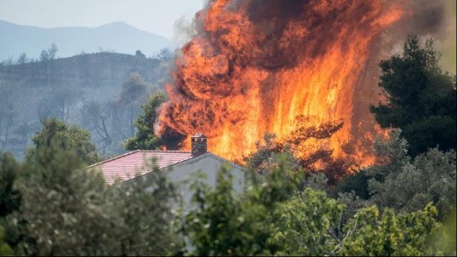 Εύβοια: Συνεχίζεται η μάχη με τις φλόγες