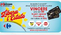 Logo Concorso ''Libera l'estate'' : con Raid, Baygon e Autan vinci 60 Gift card da 50  euro