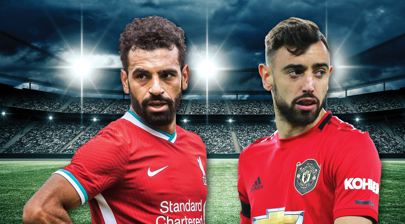 Mohamed Salah and Bruno Fernandes aim to inspire their teams to victory on Sunday