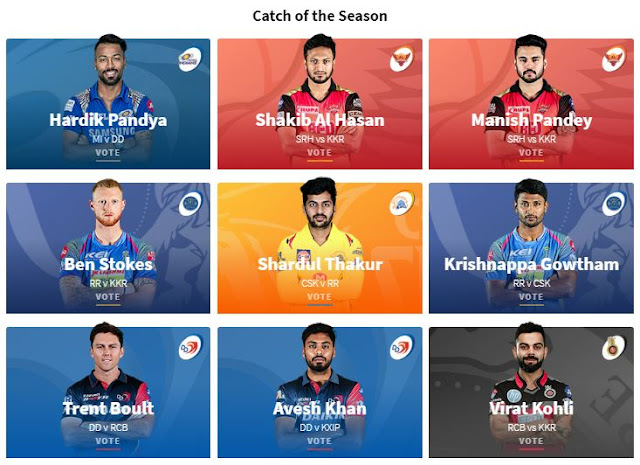 IPL 2018 VIVO Perfect Catch of the Season Players, Voting Options, Matches list