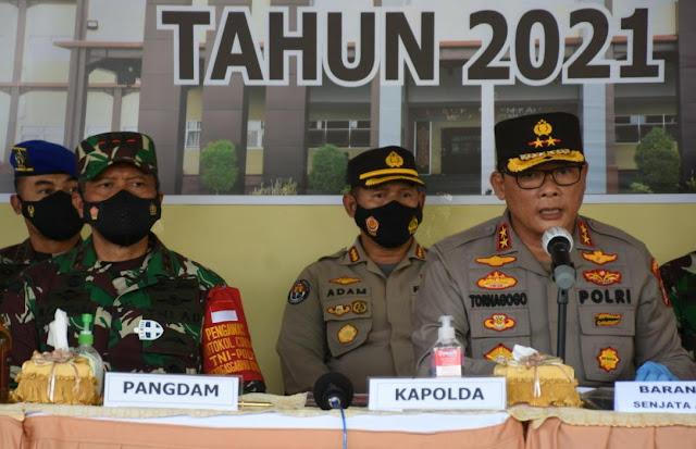 Pangdam XVIII/Kasuari Ikuti Gelar Press Release Hasil Operasi Pekat Mansinam I Tahun 2021