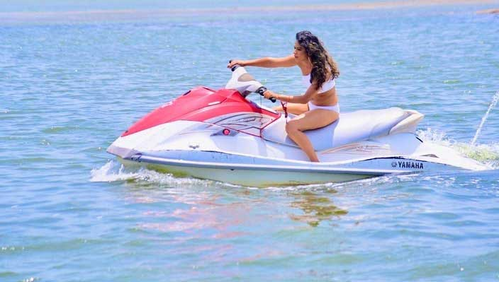 Nia Sharma Hot and Sexy in white Bikini