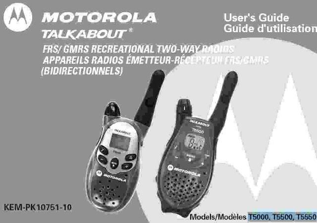 Download Motorola Talkabout T5000 Manual PDF