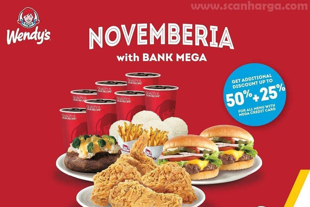 Wendys Promo Diskon 50 20 Dengan Menggunakan Kartu Kredit Bank Mega Scanharga