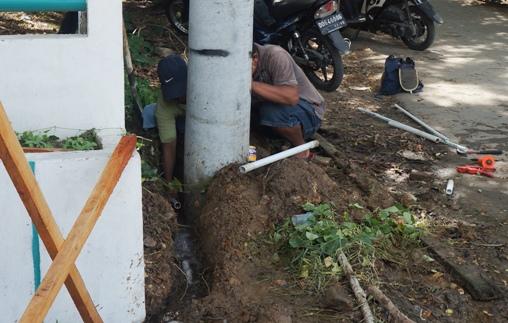 Kebocoran Pipa PDAM, Di Jln. Ahmad Yani Akhirnya Ditemukan