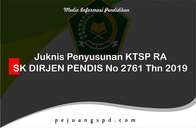Juknis Penyusunan KTSP RA, SK DIRJEN PENDIS No 2761 Thn 2019