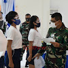 Danlantamal VI Pimpinan Sidang Pantukhirda Caba PK. Pria/Wanita dan Cata PK TNI AL Gel. I Tahun 2021 Panda Makassar