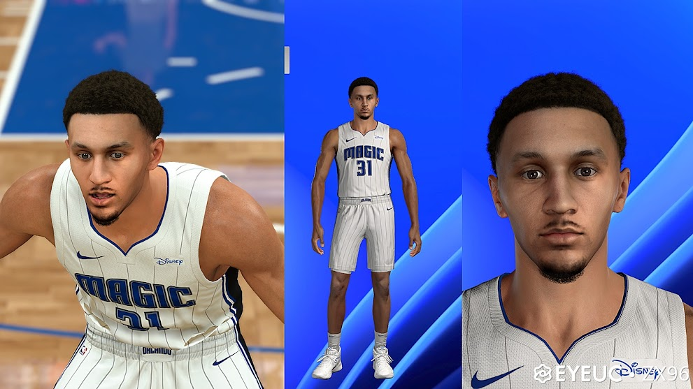 Jalen Suggs Cyberface, Hair and Body Model By ZX96 [FOR 2K21]