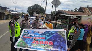 Ops Zebra Hari Ke 11, Satlantas Polres Jeneponto Laksanakan Baksos di Binamu