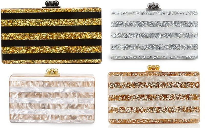 Edie Parker striped acrylic clutches