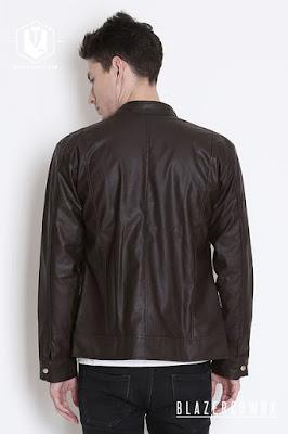 blazer cowok blazercowok.com jaket korean jas pria sk14 brown b
