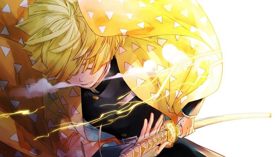 Zenitsu Agatsuma, Breath of Thunder, Kimetsu no Yaiba, 4K, #3.1415