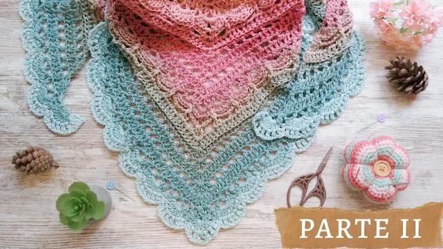 Cómo tejer un chal con hilo matizado a crochet