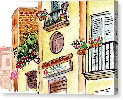 Bestselling Watercolor Painting of Sorrento Italy