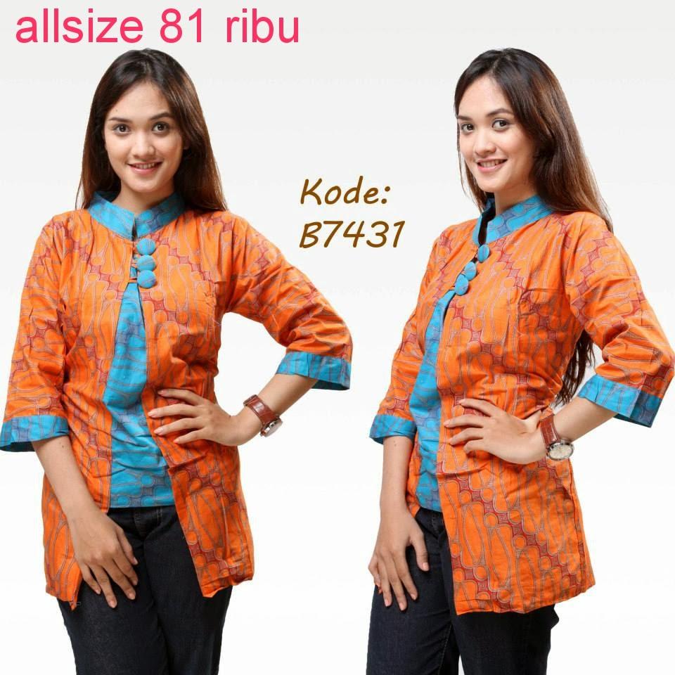 Trend Batik Kerja 2014: Model Baju Batik Modern Untuk Kerja